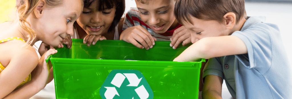 school recycling