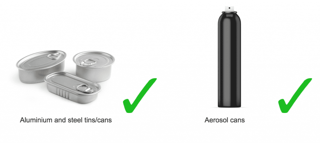 aluminium and steel tin and aerosol can