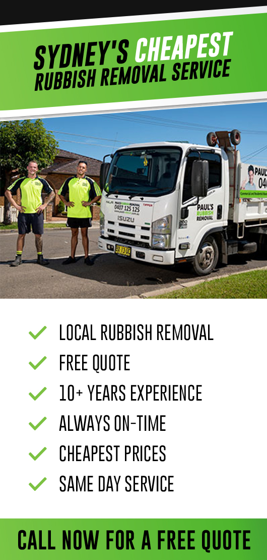 sidebar rubbish removal banner