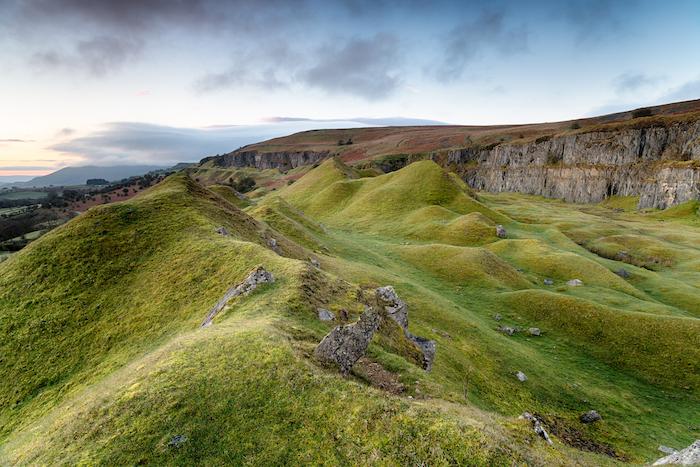Llangattock Escarpment in the Brecon Beacons