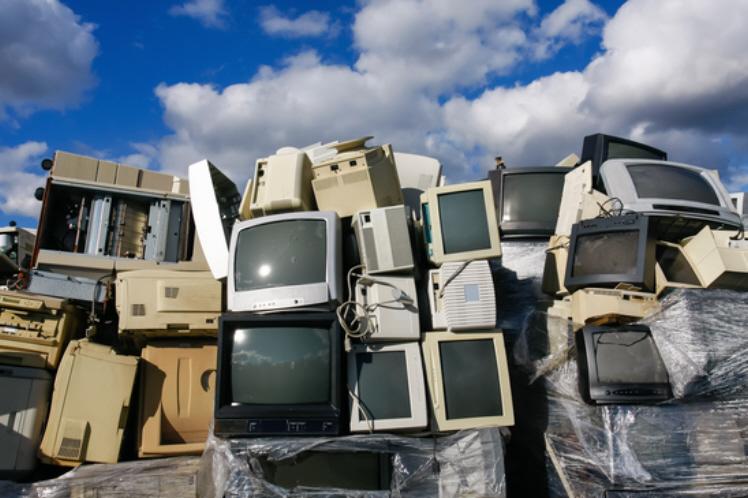 old television junkyard