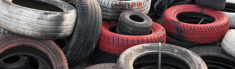 tyres at junk yard