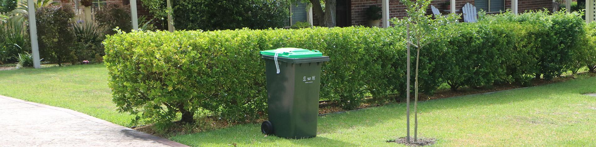 garden waste wheelie bin