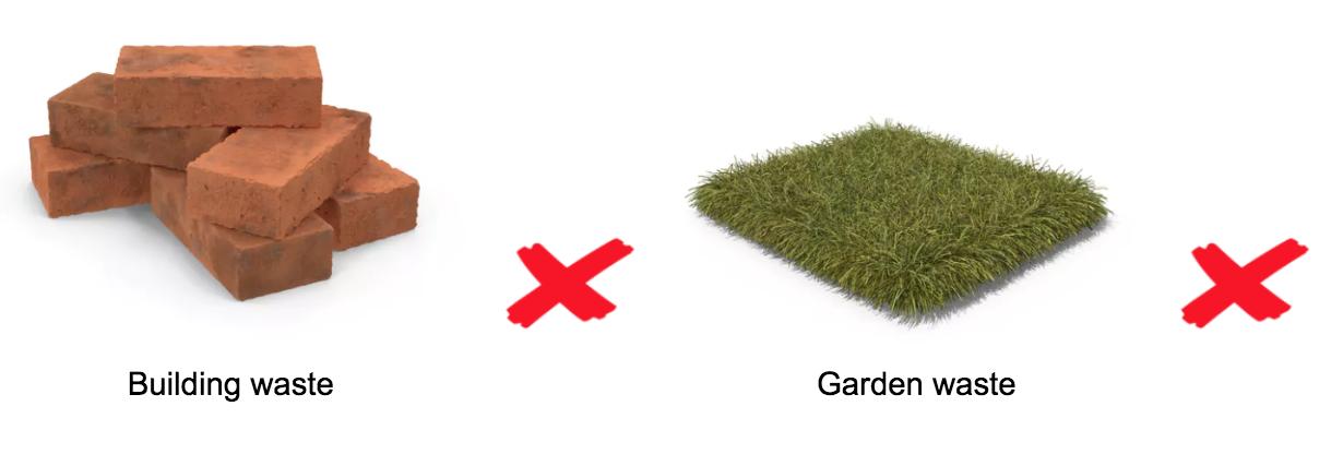 building waste and garden waste