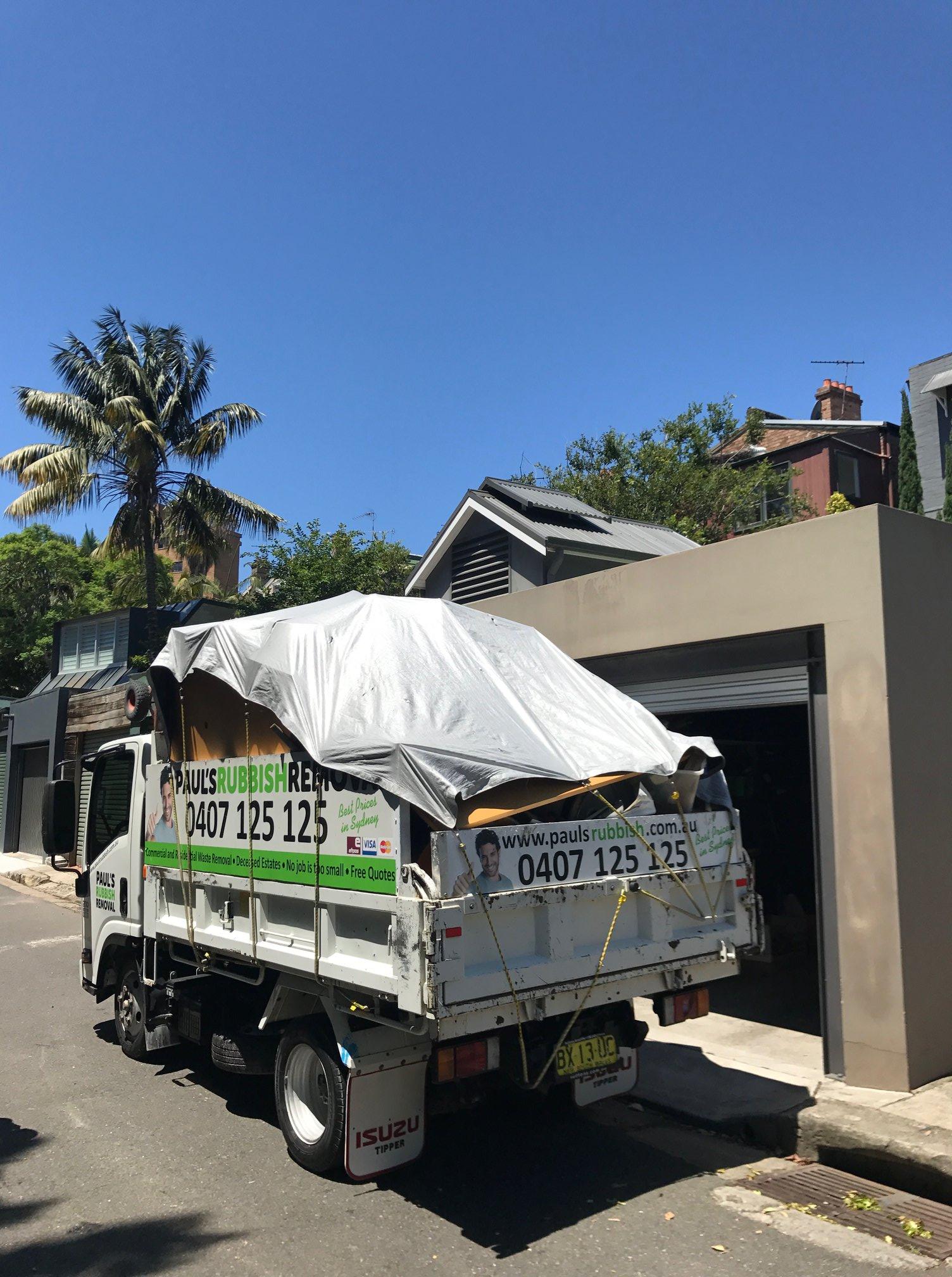 pauls rubbish removal full truck