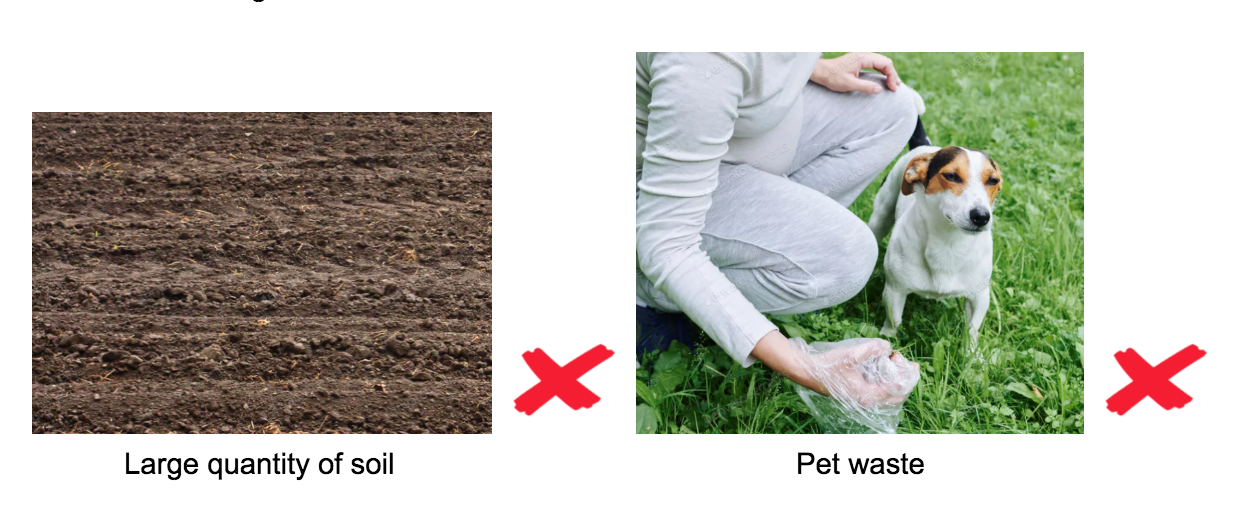 soil and pet waste