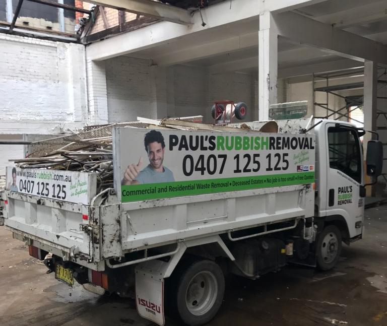 truckload of rubbish