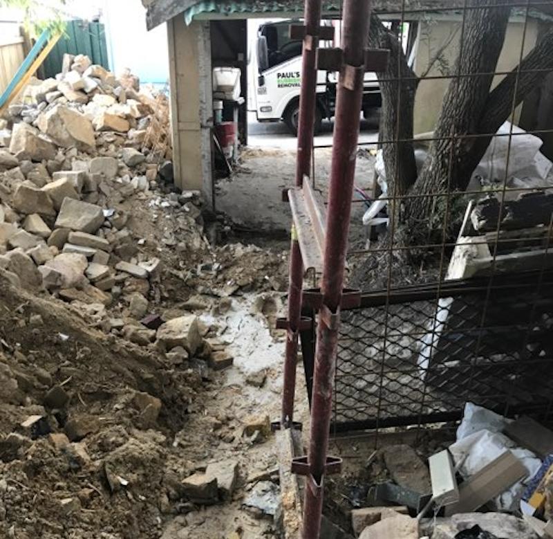 concrete and debris