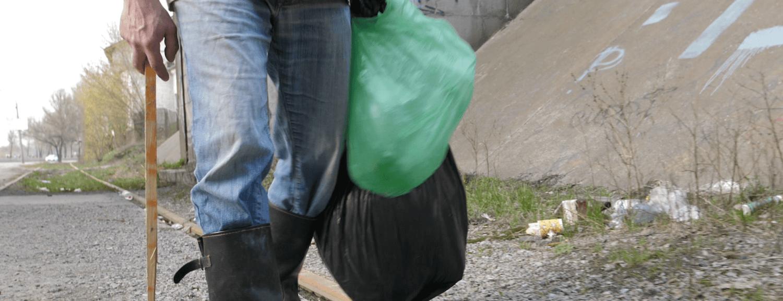 scavenging rubbish