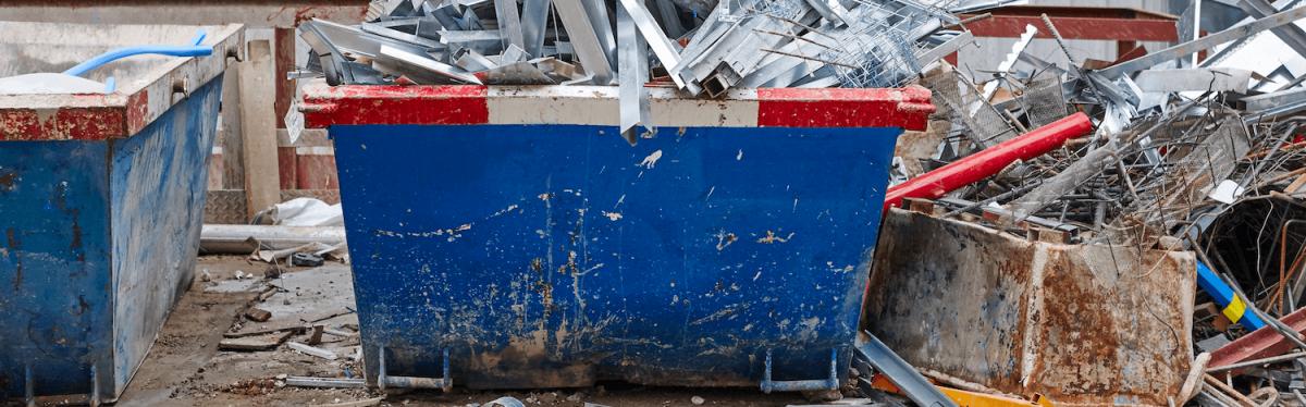 skip bin full of scrap metal