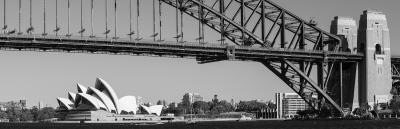 black and white sydney opera house