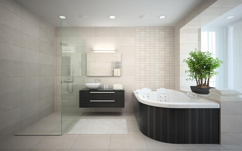 bath tub inside beautiful house