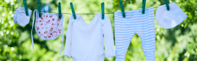clothesline hanging clothes