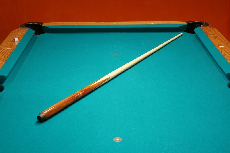 stick on pool table