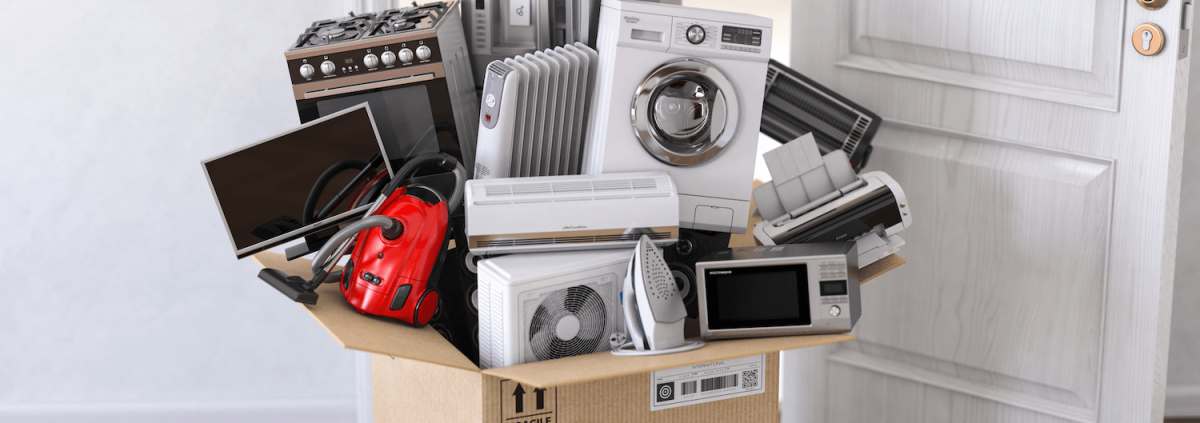 white goods in a box