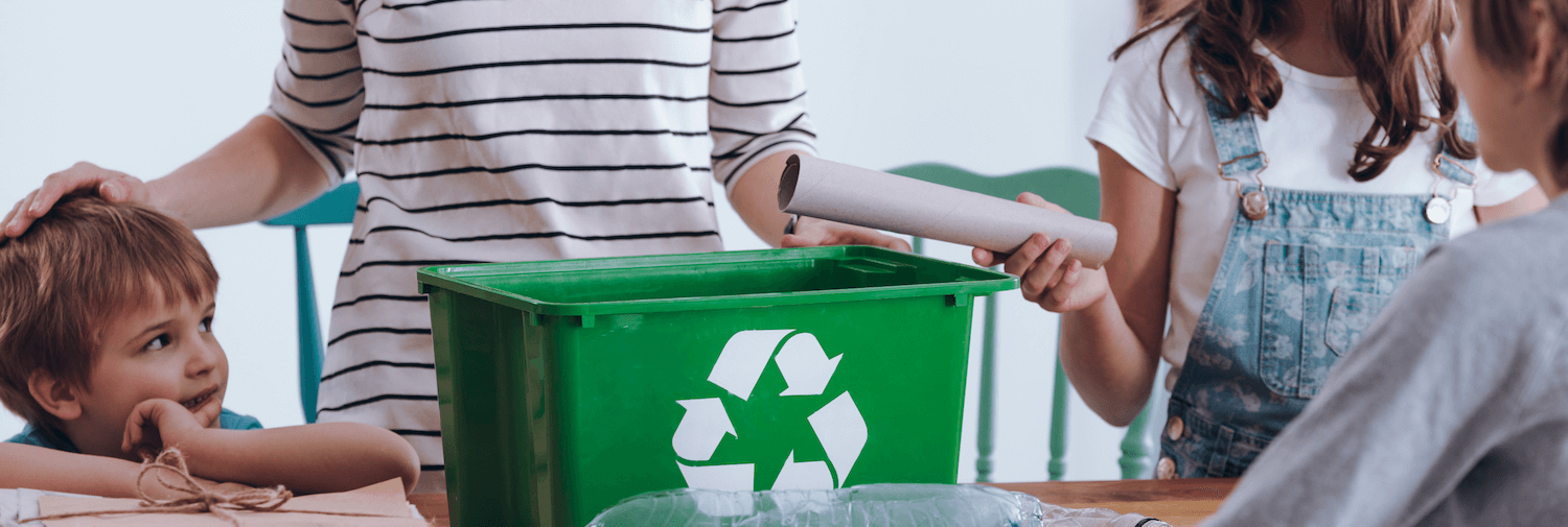 recycling at home with children