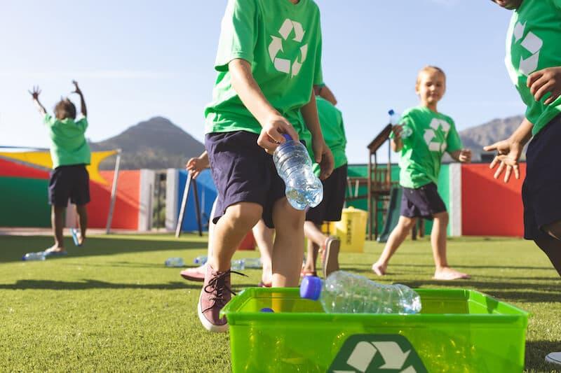 school rubbish recycling
