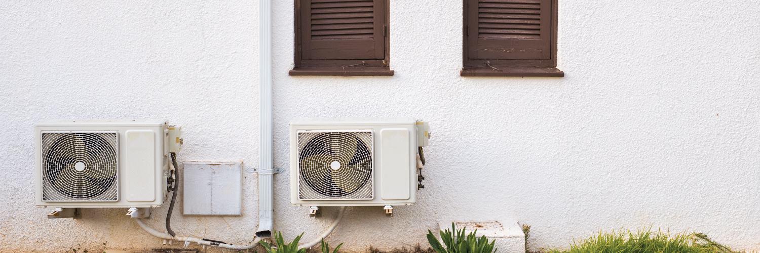 Old and rusty air conditioner