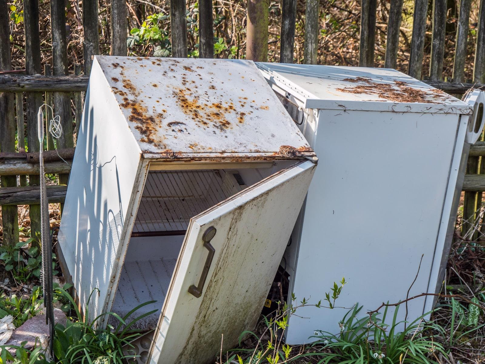Environmental problem old fridge