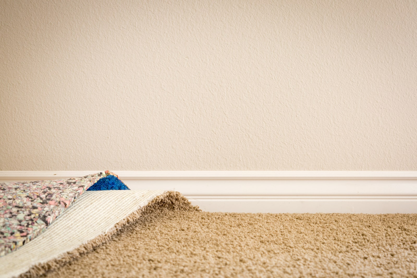 old carpet and padding