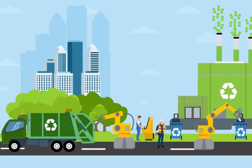 Green city and waste management landscape