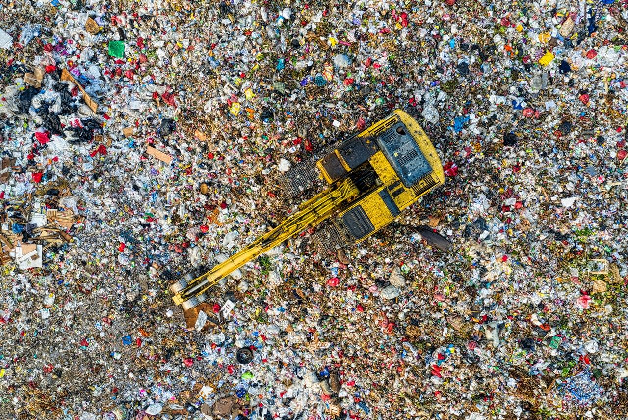 birds eyeview of landfill