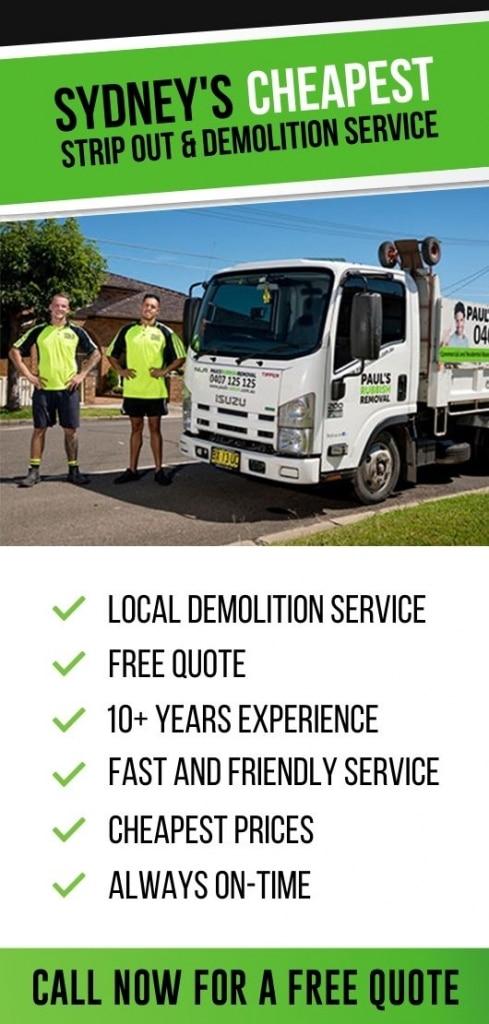 sydney's cheapest demolition service