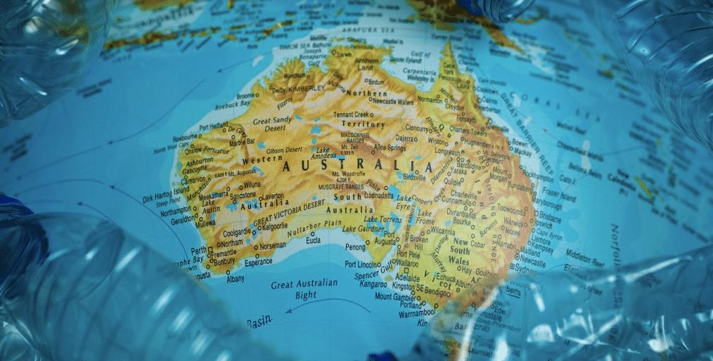 Australia Surrounded by Botttles